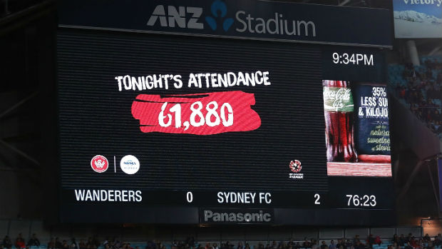 The official attendance of Saturday night's Sydney Derby at ANZ Stadium