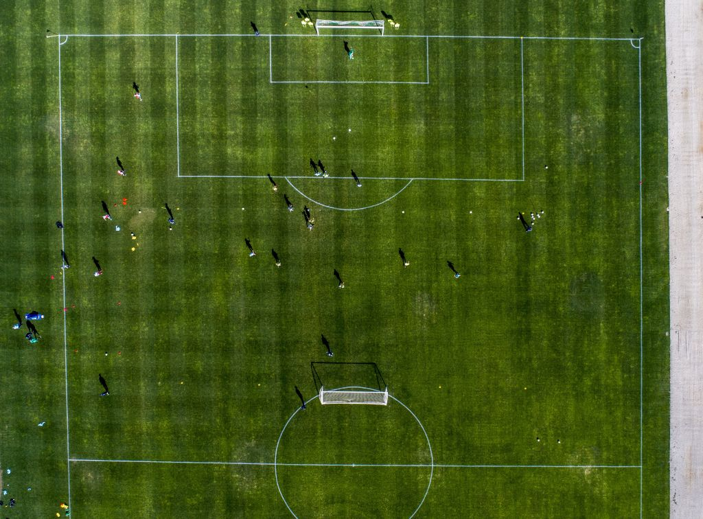 Training session from above