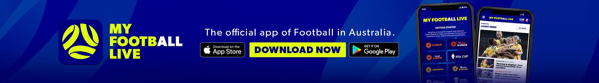 My Football Live app thin banner 2020