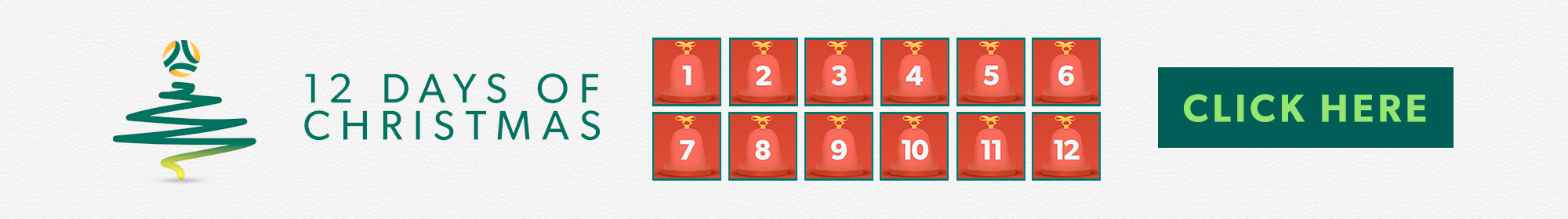 12 Days of Christmas Thin Banner