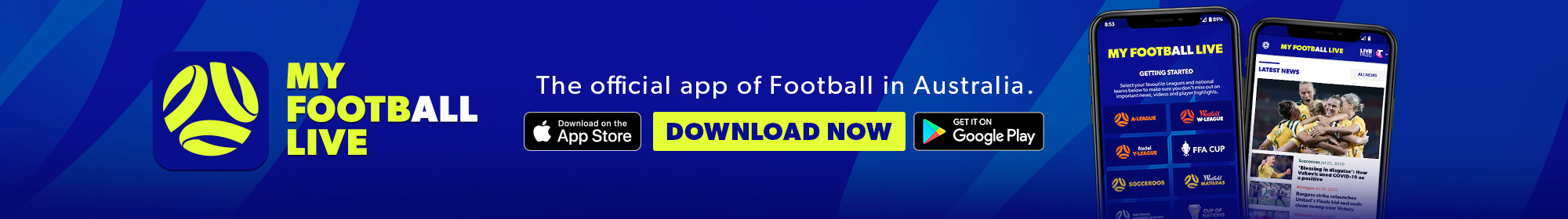 My Football Live app banner thin