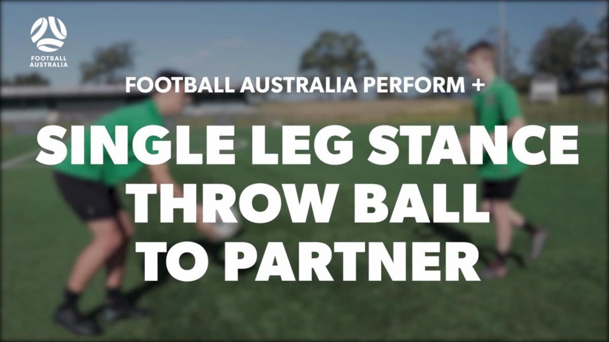 SINGLE LEG STANCE - THROW BALL TO PARTNER (Level 2 Performance)