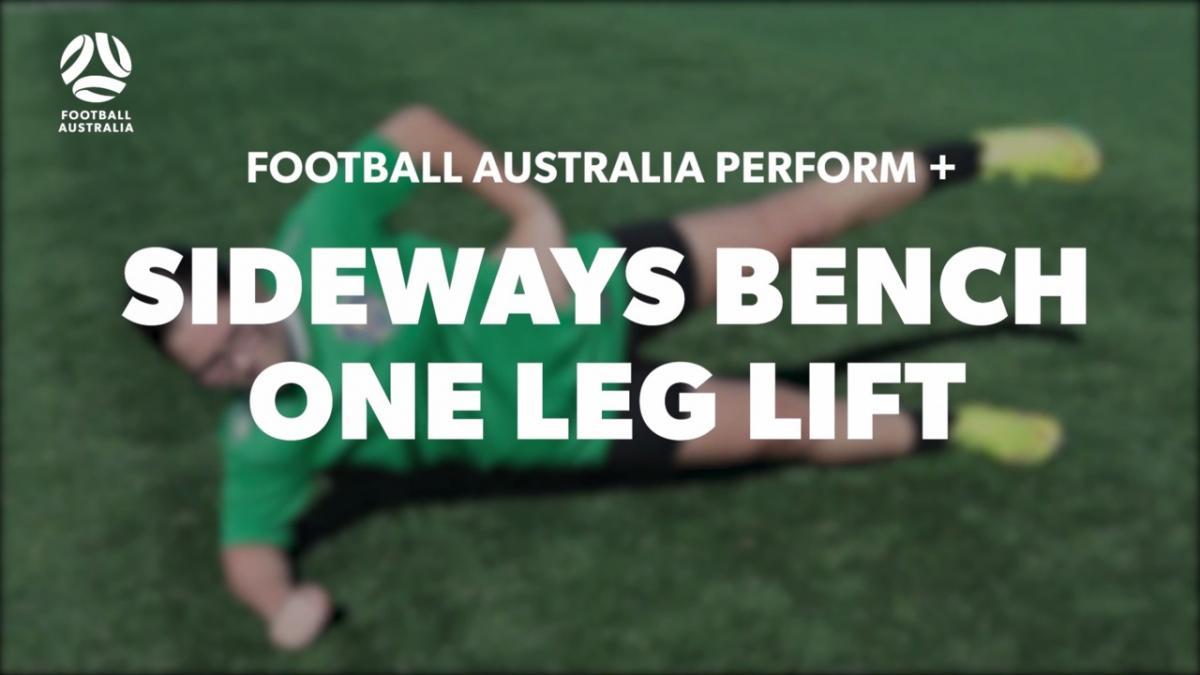 SIDEWAYS BENCH - ONE LEG LIFT (Level 3 Performance)