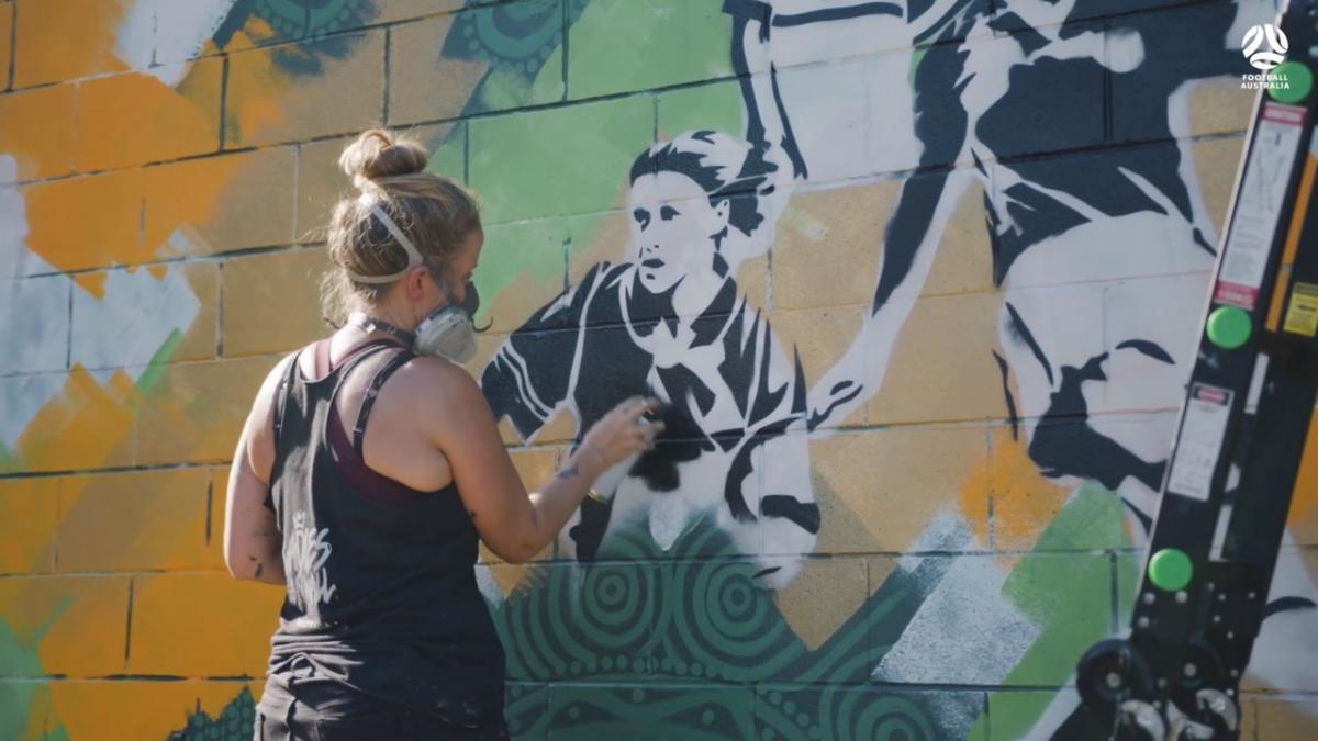 Mural: 100 years of Women's Football in Australia
