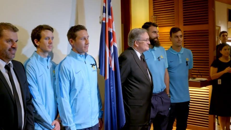 Socceroos at the Australian Embassy in Bangkok Function