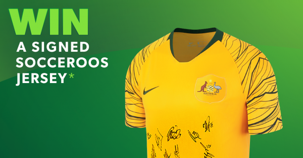 Win signed Socceroos jersey