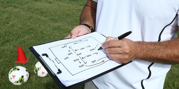 Football coach stock image