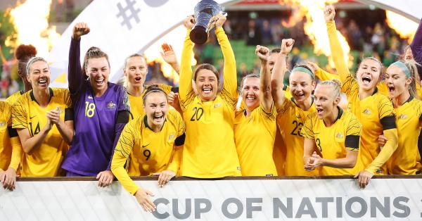 Matildas win the Cup of Nations in melbourne