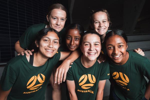 Junior Matildas players in camp