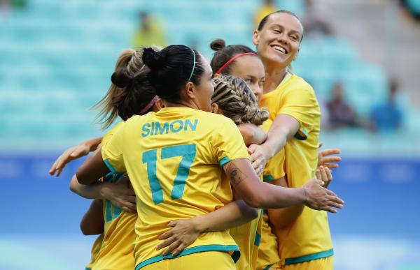 Matildas celebrate at Rio 2016