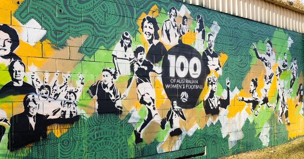 Football Australia unveils 100 Years of Women's Football mural
