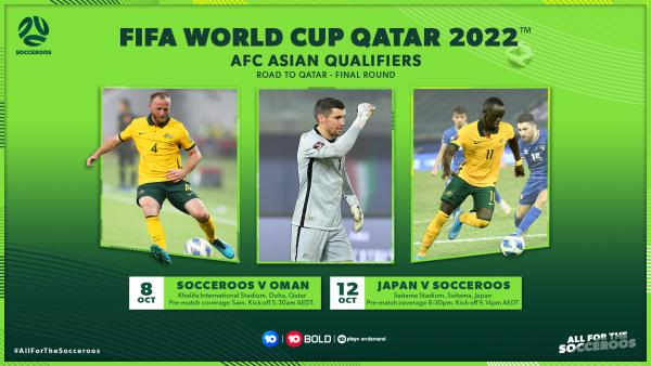 How to watch Australia's October FIFA World Cup Qualifiers v Oman & Japan