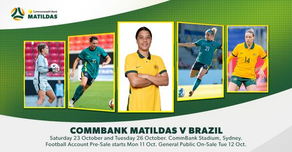 Ticketing information released for Commonwealth Bank Matildas v Brazil in Sydney