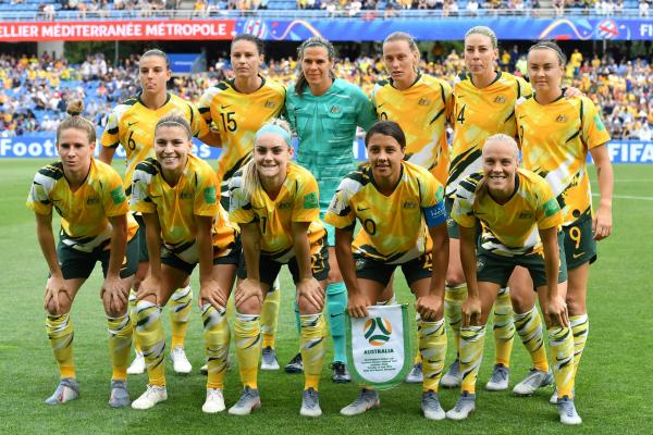 The Matildas' starting XI against Brazil